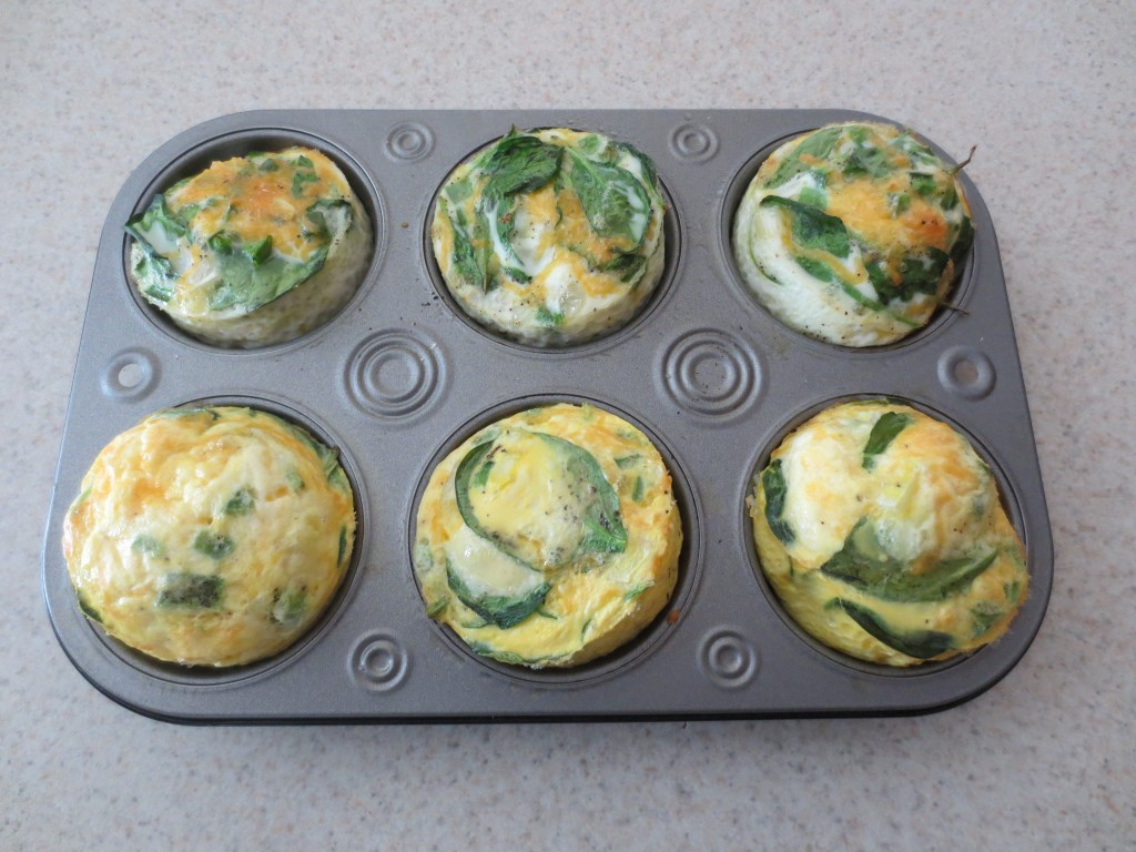 Baked Egg Muffins are a quick and easy breakfast to make that can be customized with your favorite vegetables and plenty of shredded cheese. simplylakita.com #breakfast #eggs #healthy