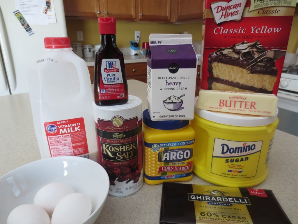 Boston Cream Cake Ingredients