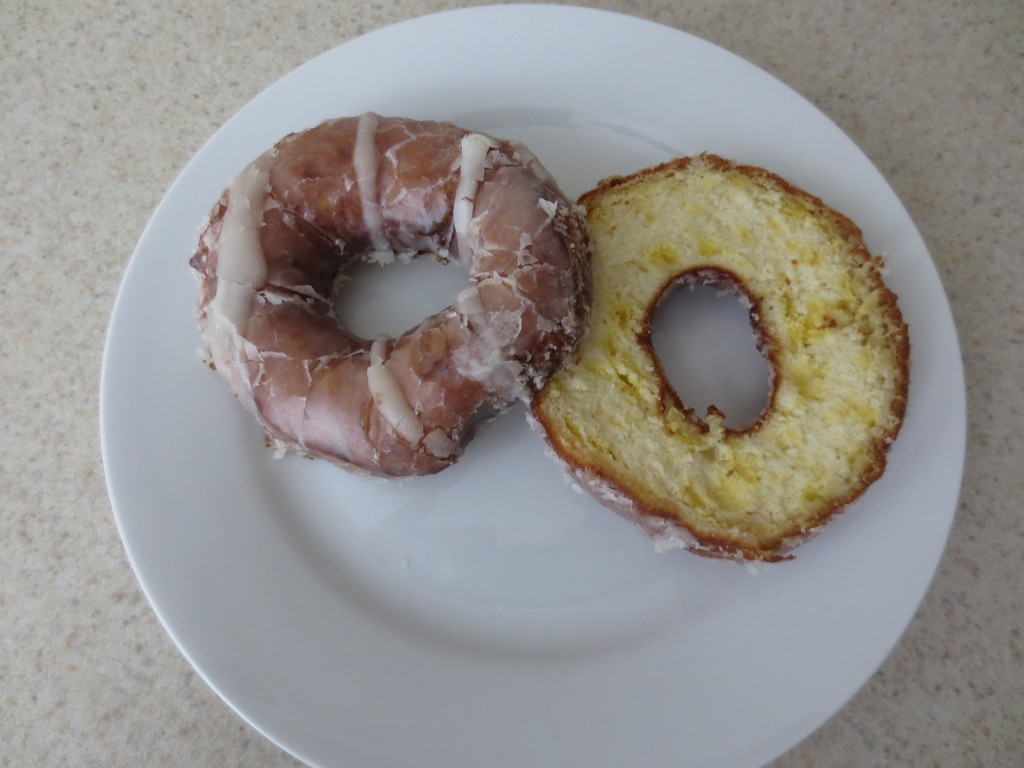 Homemade Glazed Donut Breakfast Sandwich Ingredients