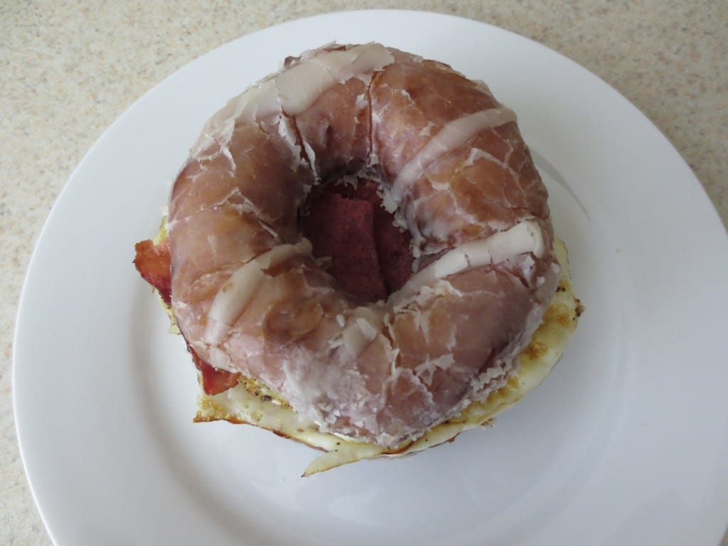 Homemade Glazed Donut Breakfast Sandwich by Simply LaKita