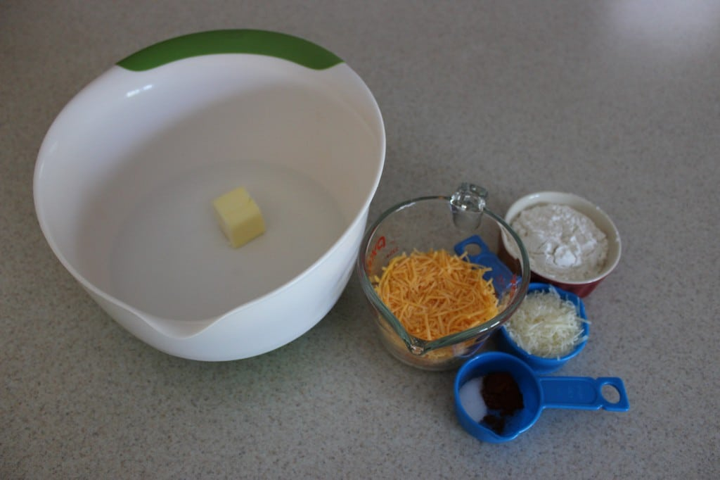 Homemade Cheese Crackers Ingredients