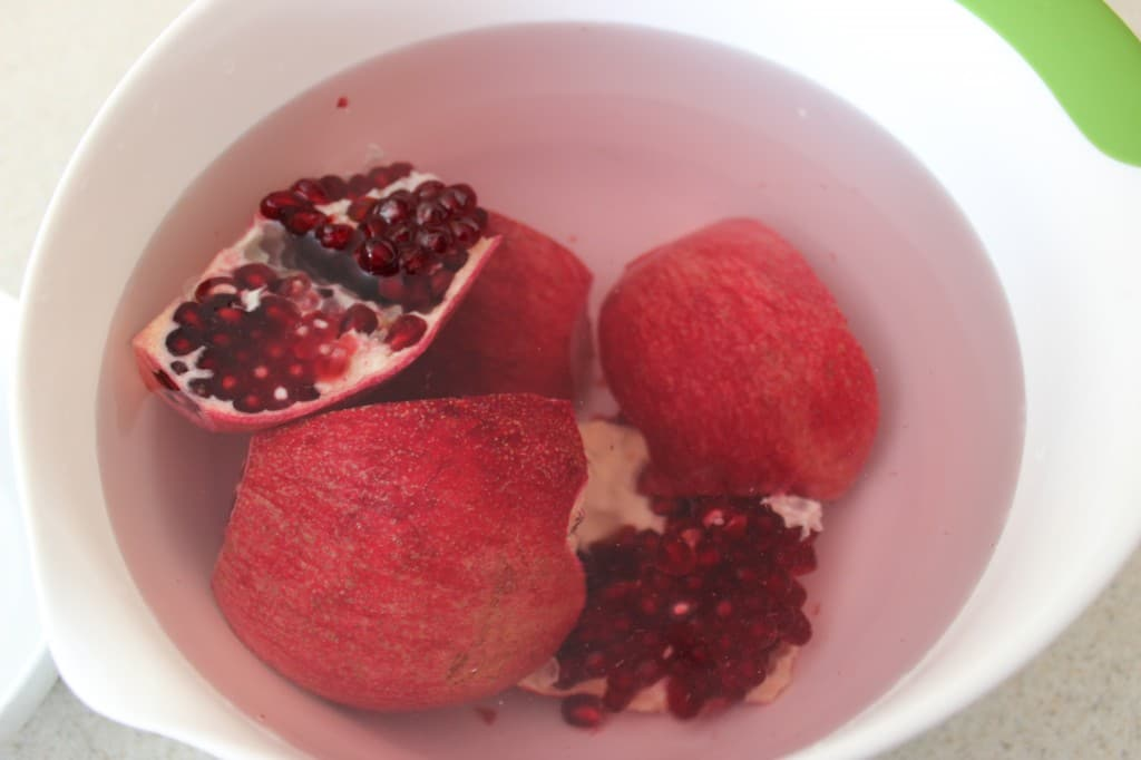 Seeding a Pomegranate in water is a simple and less messy way to enjoy this delicious fruit in the fastest amount of time. simplylakita.com