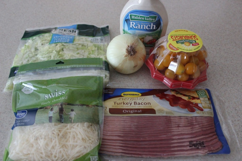 Ranch BLT Pasta Salad Ingredients