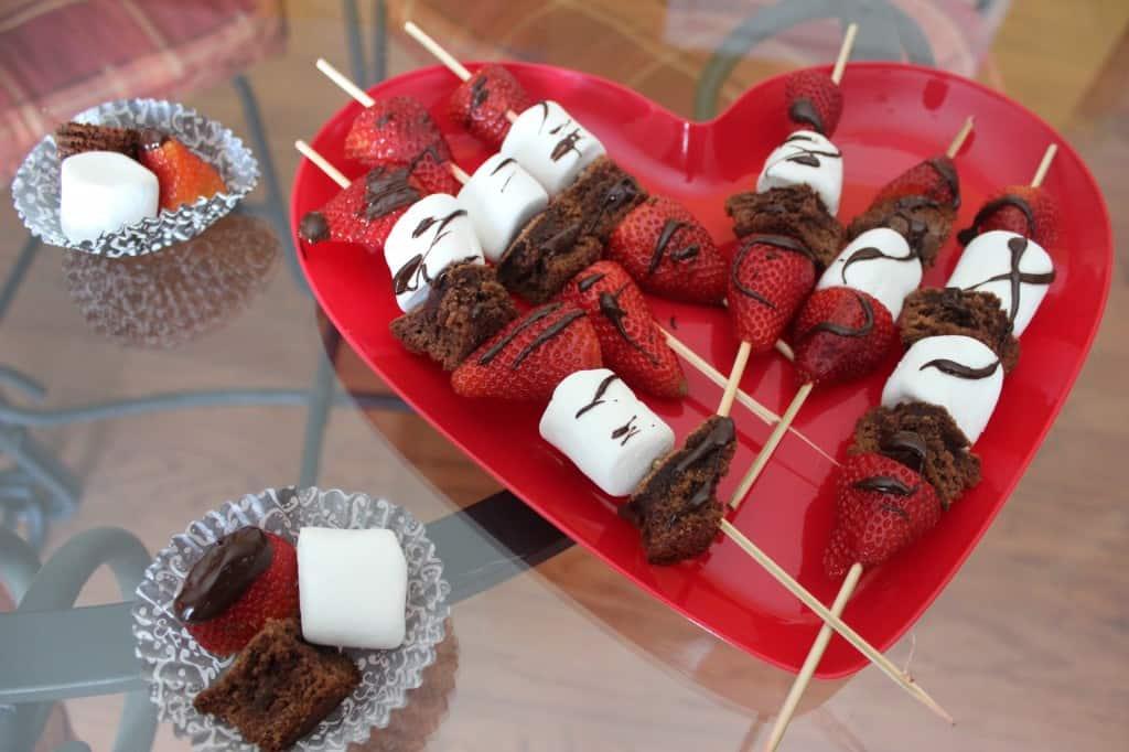 Easy Valentine's Day Dessert Kabobs