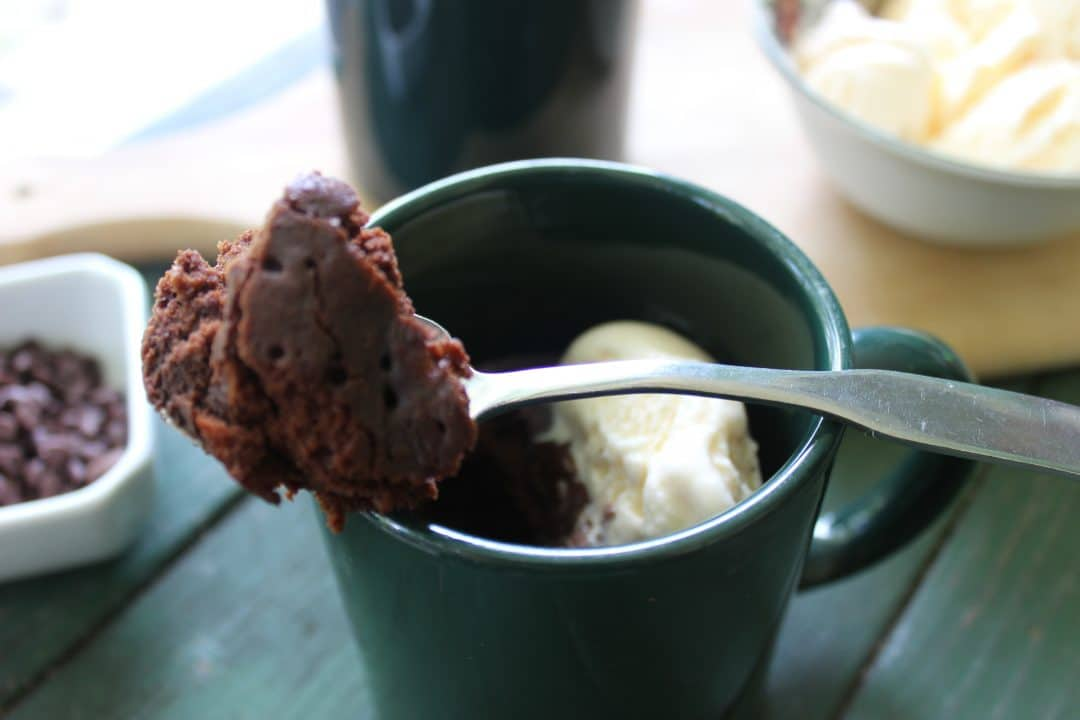 Microwave Chocolate Mug Cake is a single serve fudgy treat that is rich, creamy, and full of the chocolate flavor. Serve with your favorite ice cream. simplylakita.com