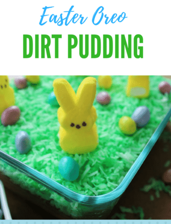 Oreo Dirt Pudding - This Easter I decided to make a recipe using Peeps and Oreos to make a dirt pudding the kids are sure to love. simplylakita.com #Easter