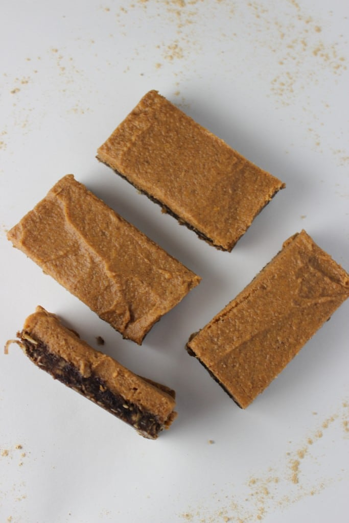 sweet potato bars with a raw ginger crust