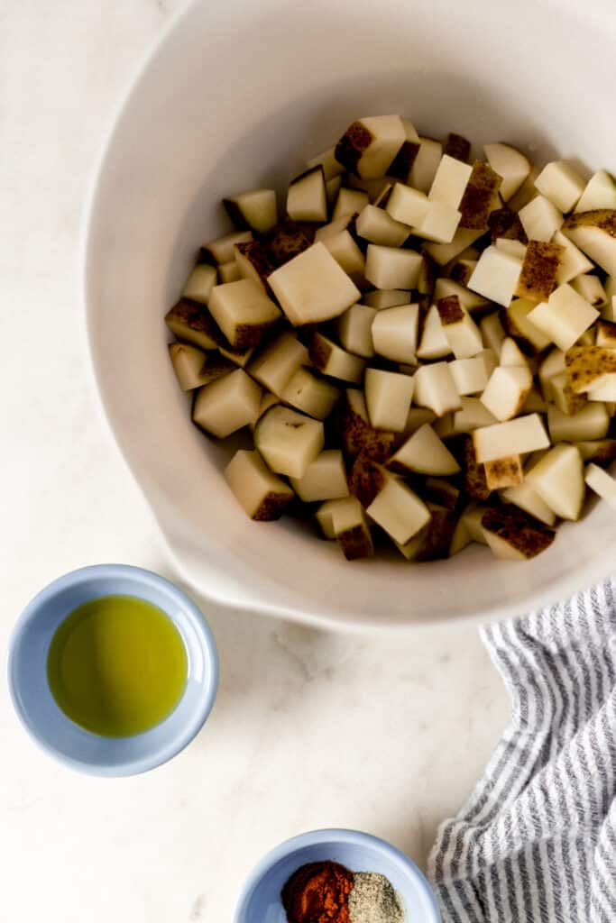 ingredients for easy roasted potatoes