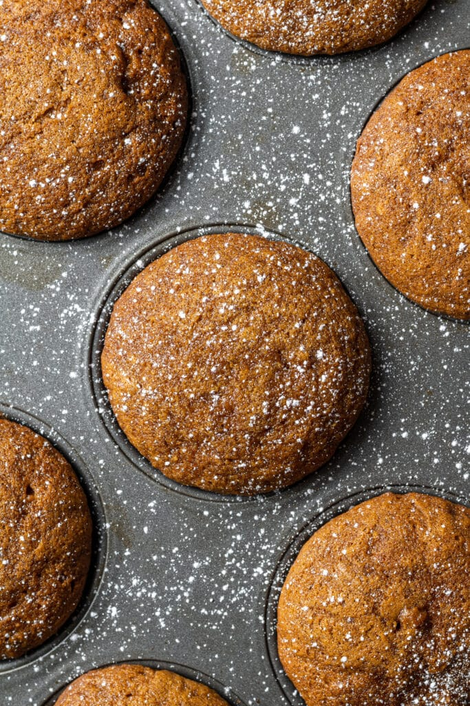 baked muffins in muffin pan