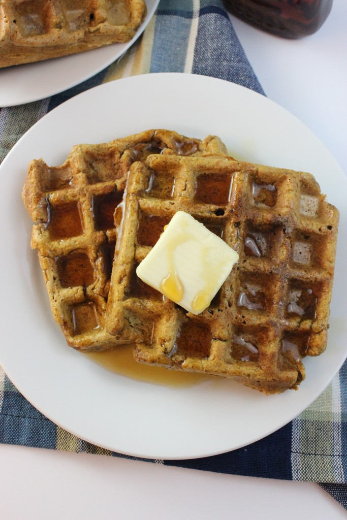 Vegan Pumpkin Spice Latter Waffles are so easy and delicious to make. You will definitely want to give this recipe a try this season. #vegan #waffles #psl
