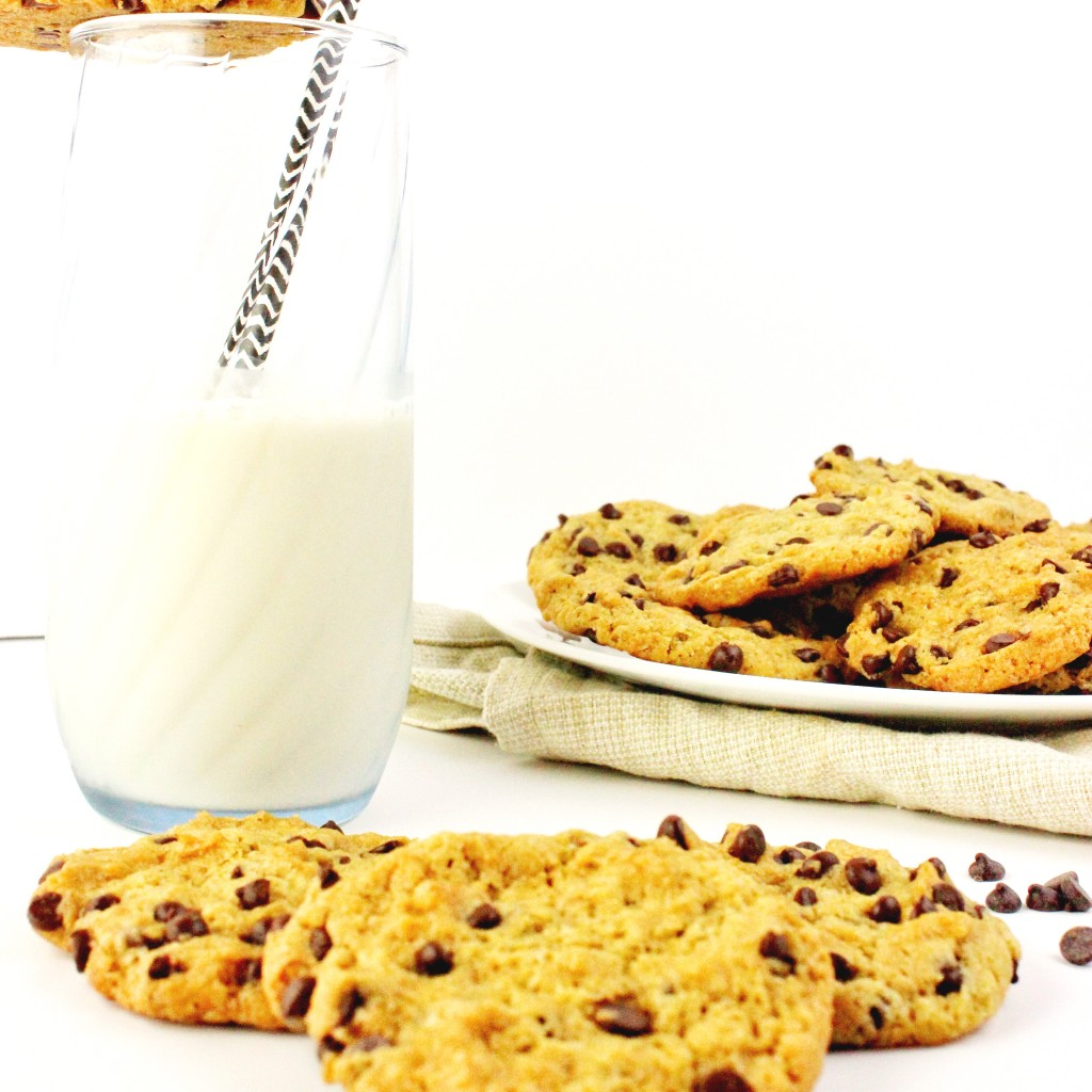 Chocolate Chip Cookies - Easy and delicious recipe that is vegan and perfect for anyone to enjoy. These cookies are sweet, chewy, and loaded with vegan chocolate chips. simplylakita.com #vegan #cookies #chocolatechip
