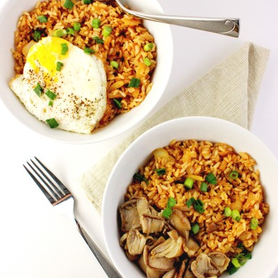 Fried Brown Rice with Vinaigrette