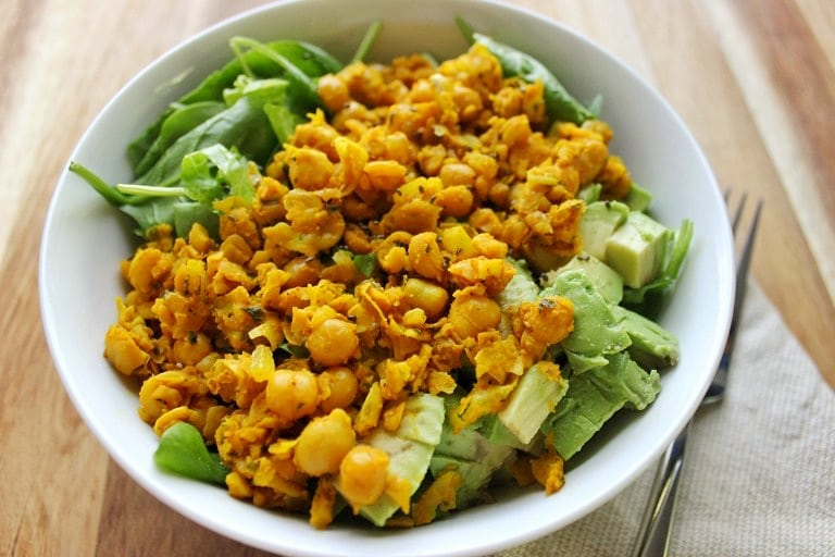 easy chickpea scramble