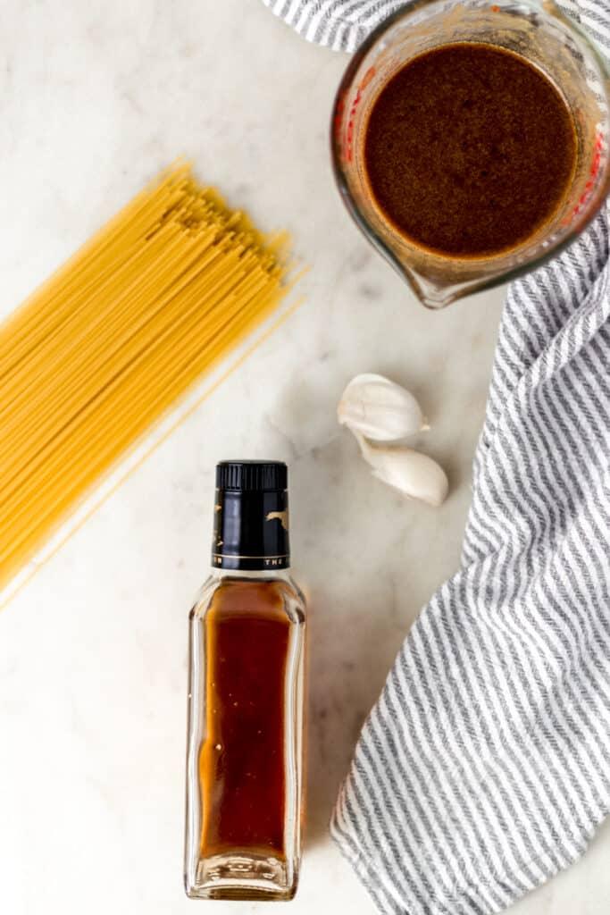 ingredients for sesame noodle recipe