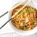 kimchi sesame noodles