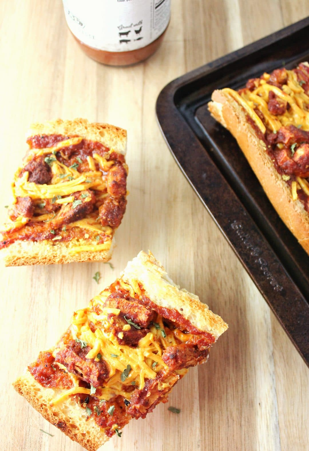 BBQ French Bread Pizza