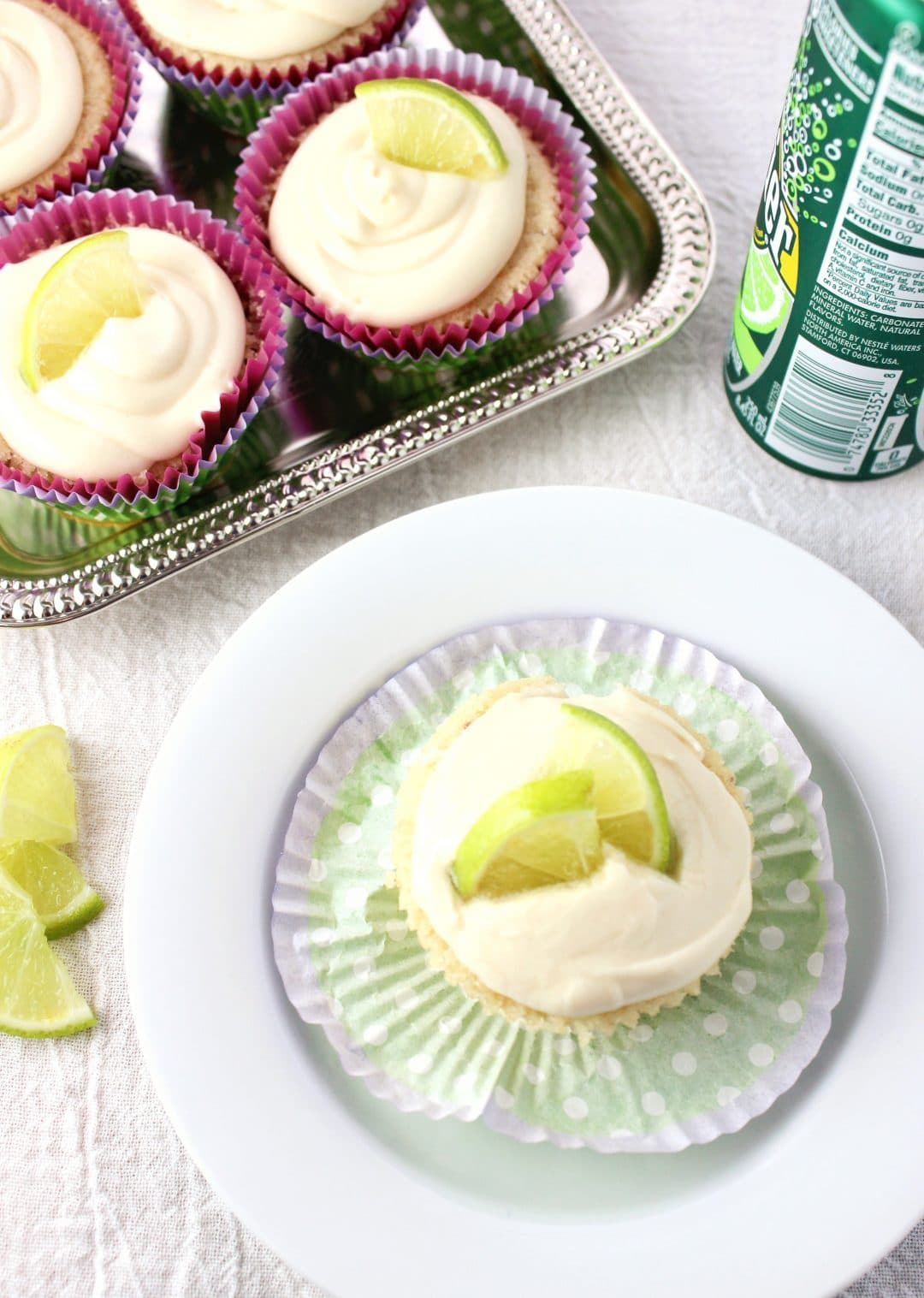 close up view of Margarita Cupcakes
