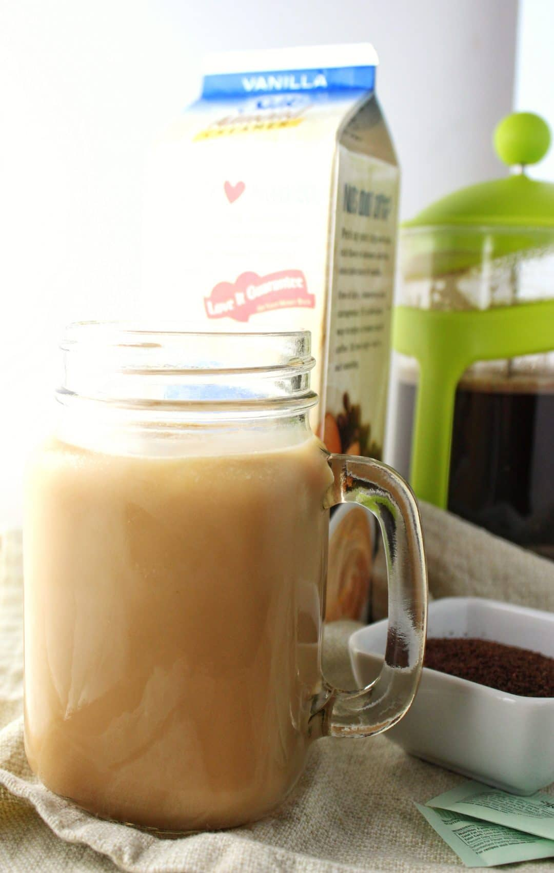 Easy Iced Coffee at Home recipe made using 4 simple ingredients. This coffee is perfect for those time when you can't make it to the coffee house. simplylakita.com #coffee #icedcoffee