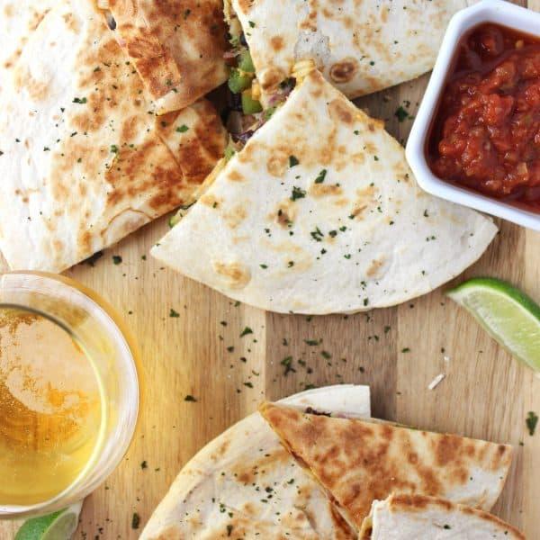 Easy Vegan Quesadillas