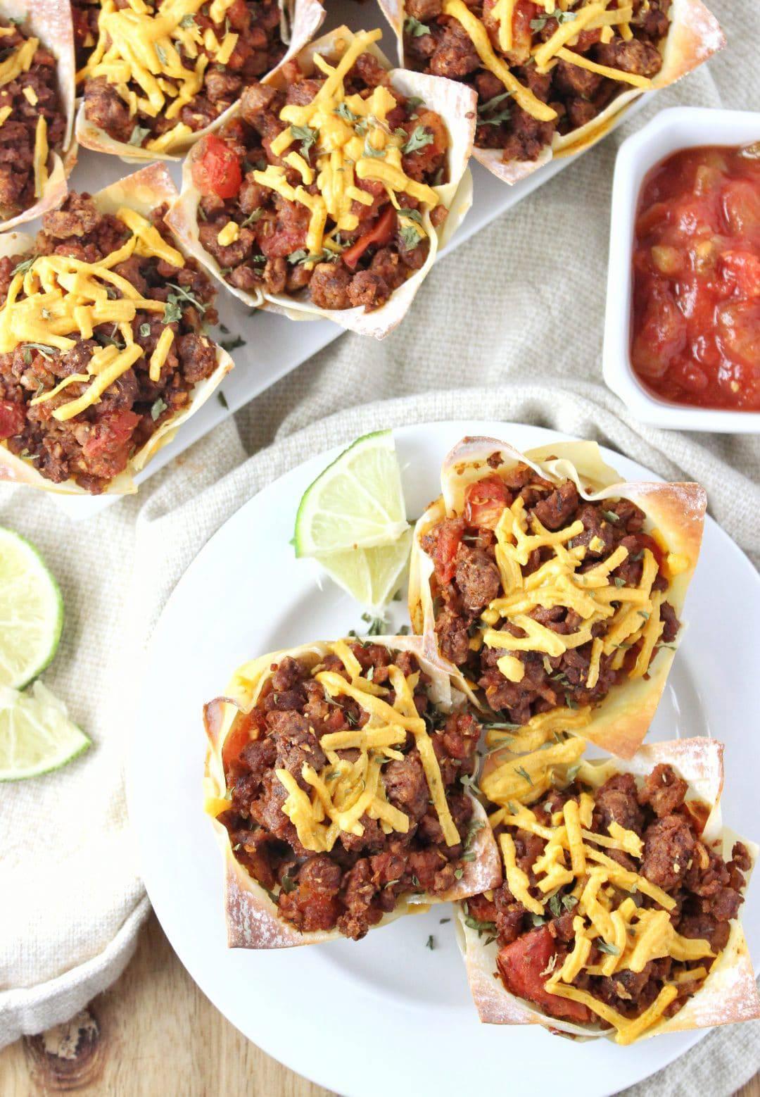 vegan taco cups by simply lakita