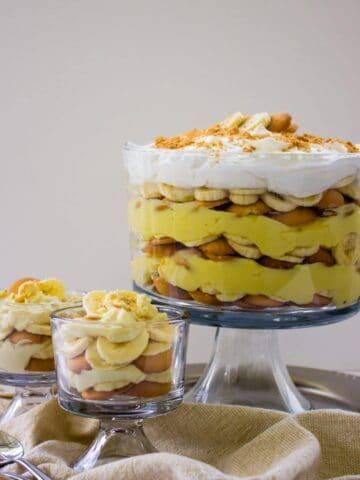 close-up side view of Homemade Banana Pudding Recipe