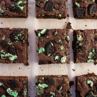 Fudgy Mint Brownies {Vegan}