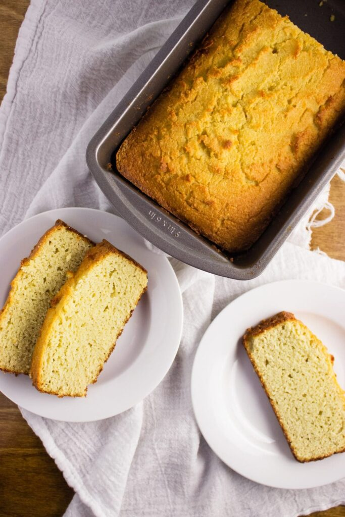 Almond Coconut Flour Bread - A low carb recipe that gives you a nice alternative. This bread is buttery, thick, and fluffy. Enjoy with a pat of butter. simplylakita.com #keto #lowcarb #bread