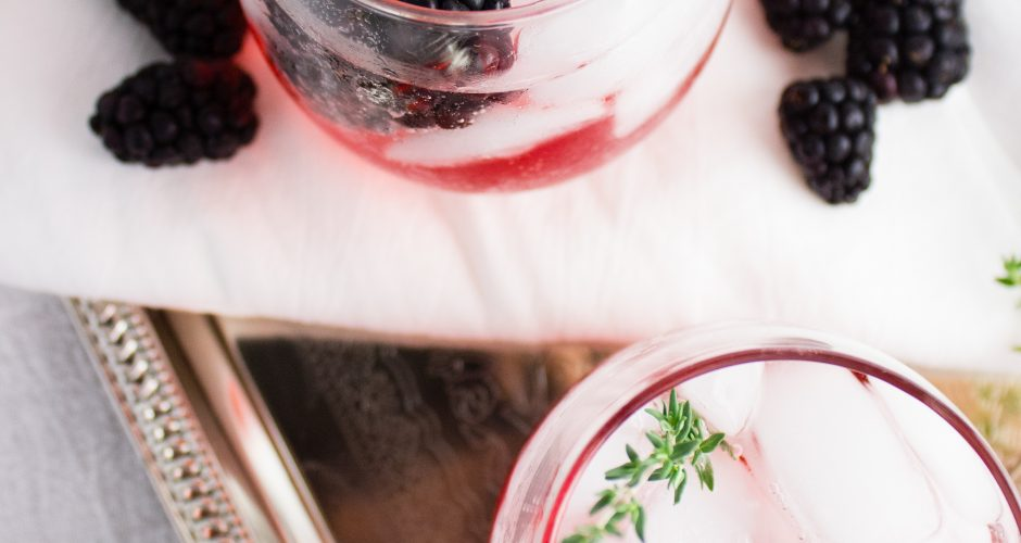 Blackberry Thyme Mocktail