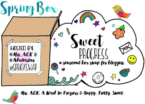 This Spring Sweet Progress Swap Box Reveal shares the amazing items that I received in my swap box from fellow blogger Echo at The Mad Mommy. simplylakita.com #swapbox #SPBoxSwap