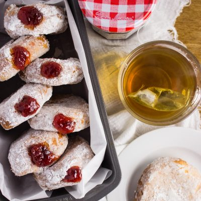 Strawberry Preserves Donuts