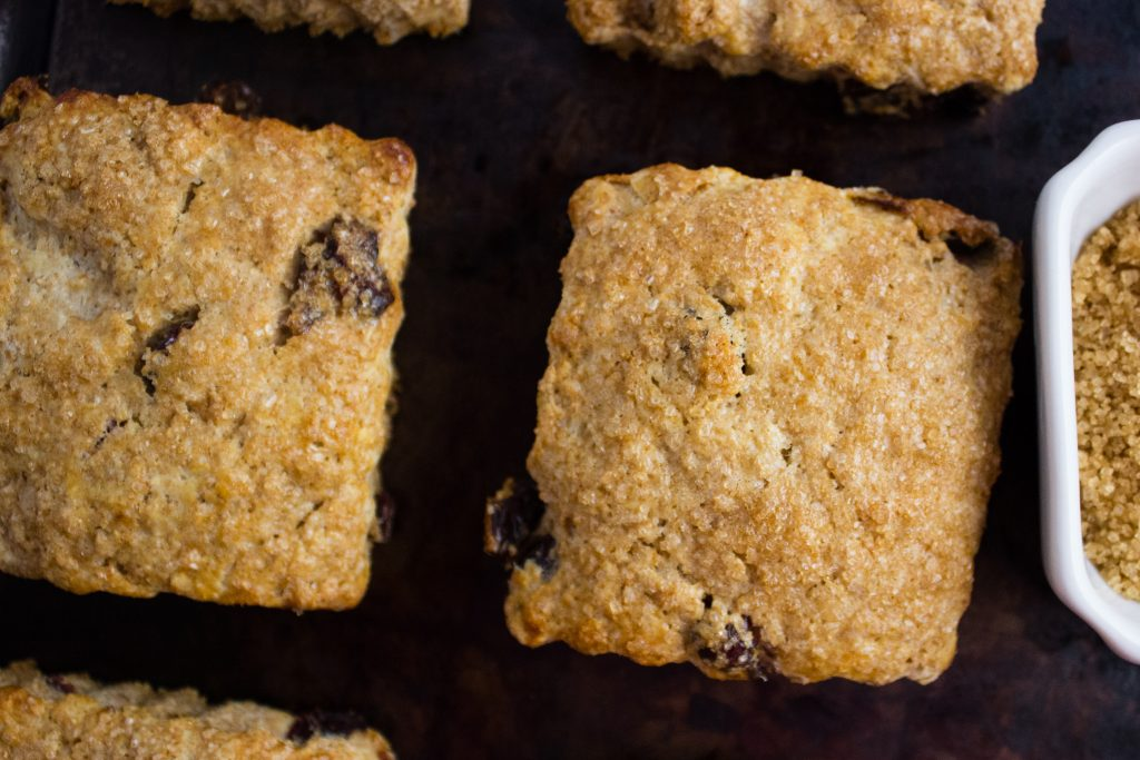 Satisfy your sweet cravings with these Flaxseed Scones that are filling, loaded with cranberries, and have a crunchy raw sugar crust. simplylakita.com #flaxseed #scones