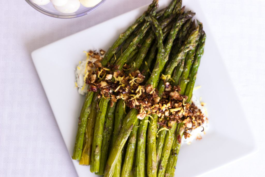 Celebrate Easter with The Fresh Market by making it special with Roasted Lamb with Harissa and Roasted Asparagus with Goat Cheese and Hazelnuts. A meal that will never be forgotten. simplylakita.com #ad #Easter #TFMEasterBasket #TheFreshMarket