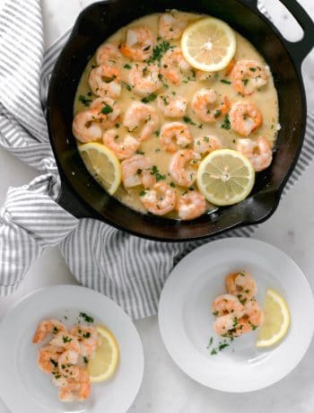 Garlic Butter Shrimp is a flavorful and fast meal solution that is packed with the perfect combo of garlic and butter. Pair this with your favorite side. simplylakita.com #shrimp #easyrecipe