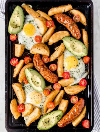 Overhead Sheet Pan Breakfast Bake photo