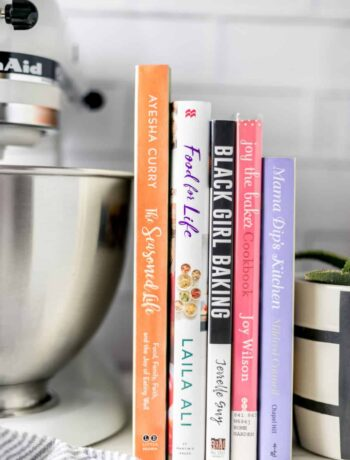 This list of 5 Cookbooks by Women of Color is sure to fit your cooking needs. From baking to healthy meals, to entertaining, these cookbooks have it all. simplylakita.com #cookbooks #blackfoodbloggers