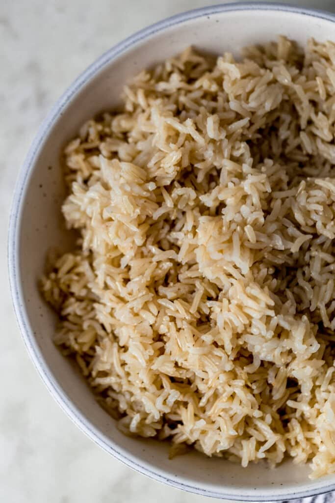 large bowl of instant pot brown rice
